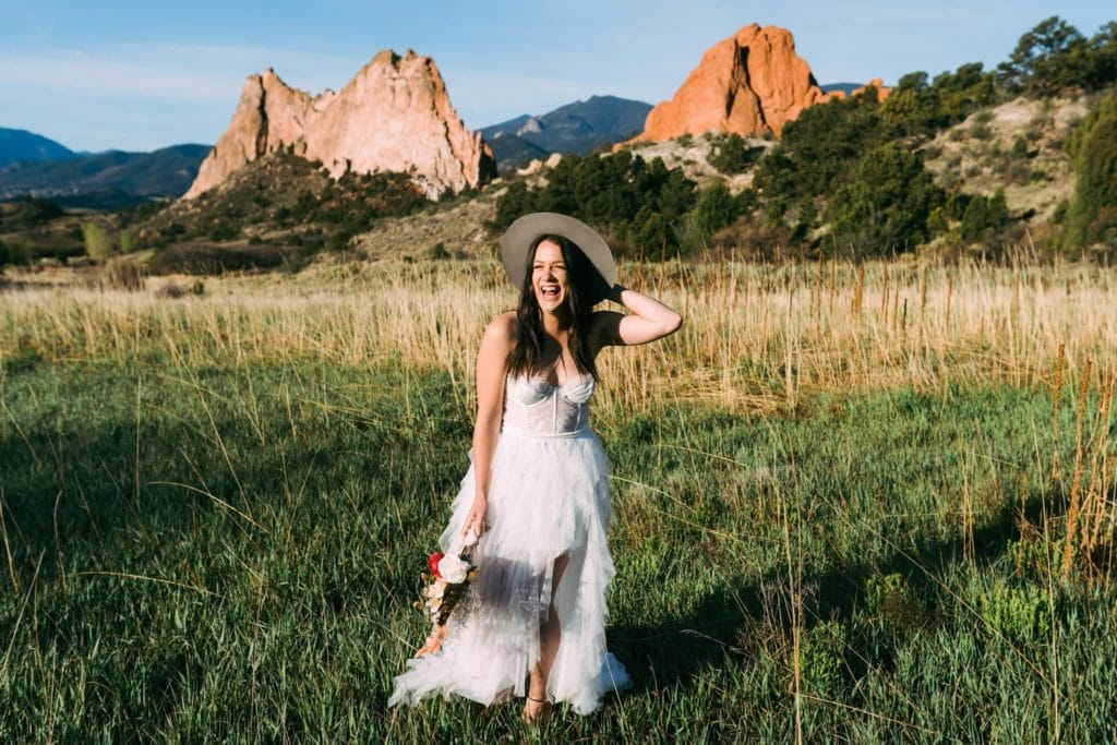 garden of the gods bridal session
